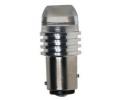 LED autožárovka 12V Ba15s bílá,1W HP LED,PVC čočka