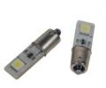 LED autožárovka 12V s paticí BA9S bílá, 2LED/3SMD