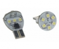 LED autožárovka 12V s paticí T10 bílá, 12LED/SMD