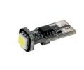 LED autožárovka 12V s paticí T10 bílá, 1LED/3SMD
