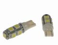 LED autožárovka 12V s paticí T10 bílá, 9LED/3SMD