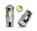LED žárovka 12V T10 bílá, 6SMD Osram s čočkou