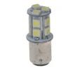 LED žárovka 12V s paticí BAY 15d(dvouvlákno) bílá, 16LED/3SMD