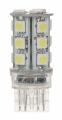LED žárovka 12V s paticí T20 (7443) bílá, 18LED/3SMD