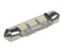 LED žárovka 12V s paticí sufit(36mm), 3LED/3SMD