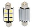 LED žárovka 12V s paticí sufit(36mm), 6LED/3SMD s chladičem