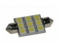 LED žárovka 24V s paticí sufit (36mm) bílá, 9LED/3SMD