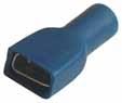 Objímka plochá celoizol. 6,3mm modrá