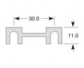 Pojistka plíšková 30A (11x30)