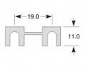 Pojistka plíšková 40A (11x19)
