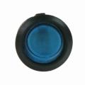Spínač kolébkový kulatý modrý s podsvícením